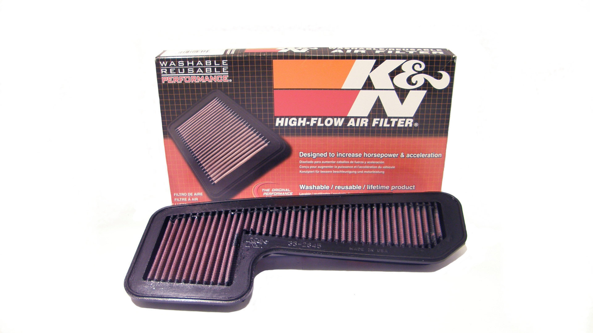 K/&N 33-2375 Replacement Panel Air Filter for Nissan Cube//Versa 1.8L