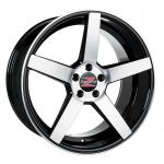 Barzetta Tenente Black Polished wheels