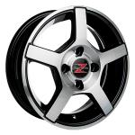 Barzetta Carrello Black Polished wheels