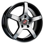 Barzetta Inverno Black Polished wheels