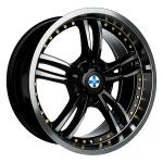 Blaukreuz Mi6 Black Polished Gold Rivets wheels