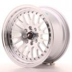 jr_jr10157143074s Japan Racing JR10 15x7 ET30 4x100/108 Machined Sil