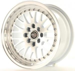 jr_jr10159041074s Japan Racing JR10 15x9 ET10 4x100/114 Machined Sil