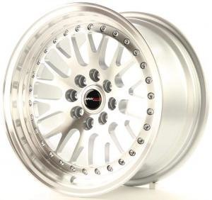 jr_jr10168041074s Japan Racing JR10 16x8 ET10 4x100/114 Machined Sil