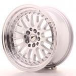 jr_jr10167143067s Japan Racing JR10 16x7 ET30 4x100/108 Machined Sil