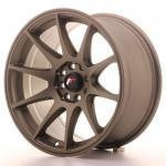 jr_jr11167142567mbz Japan Racing JR11 16x7 ET25 4x100/108 Matt Bronze