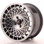 jr_jr14158042074bm Japan Racing JR14 15x8 ET20 4x100 Black Machined