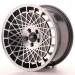 jr_jr14168042574bm Japan Racing JR14 16x8 ET25 4x100 Black Machined