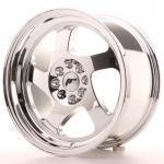jr_jr151680xx2574vc Japan Racing JR15 16x8 ET25 Blank Vacum Chrome