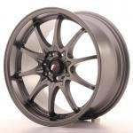 "Japan Racing JR5 17 x 8.5"" ET35 4x100 + 114.3, Matta Gunmetal"