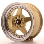 jr6157142567gdl_13411_1.jpg Japan Racing JR6 15x7 ET25 4x100/108 Gold with Machined Lip