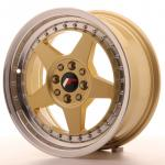 jr6167142567gdl_13425_1.jpg Japan Racing JR6 16x7 ET25 4x100/108 Gold with Machined Lip