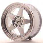 jr6178142074sm_13463_1.jpg Japan Racing JR6 17x8 ET20 4x100/108 Silver Machined Face