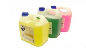 Coolant fluid, green, yellow, red 100%