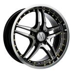 Melchior GT Black Polished Gold Rivets wheels