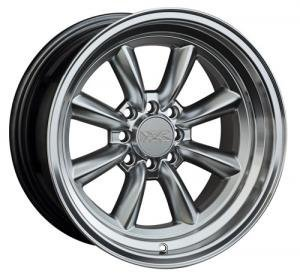 "xr537-1680-2sl.jpg XXR 537 16x8"" 4x100 & 4x108 et: 0 cb: 73mm Silver polished rim"